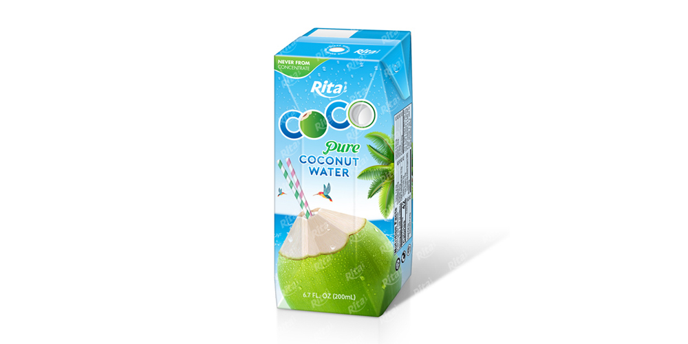 Coconut Water : Aseptic packing 200ml Coconut with pineapple